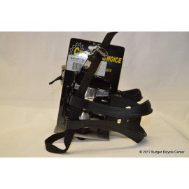 Cyclists' Choice Alloy Platform Pedal With Toe Clips 9/16""