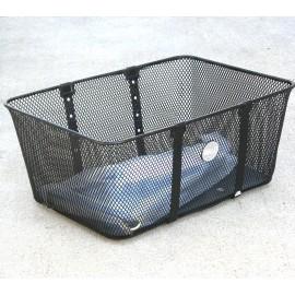 Wald Mesh Front Basket Large Black