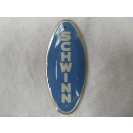 Schwinn Bicycle Head Badge baby blue w/ white letters