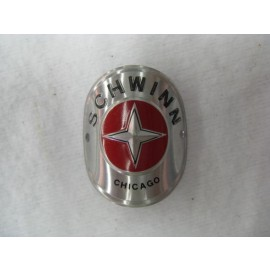 Schwinn Bicycle Head Badge round aluminum