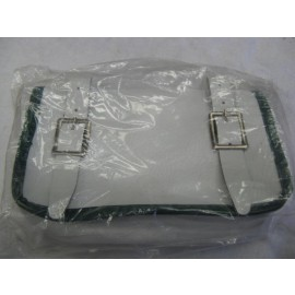 Vintage bicycle handlebar bag white