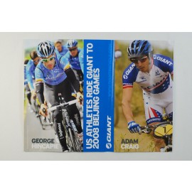Giant Bicycles George Hincapie Adam Craig Beijing Olympics poster