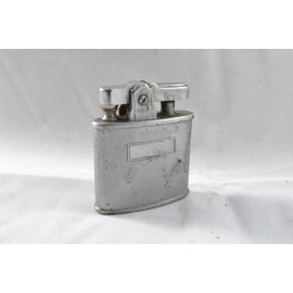 Vintage Refillable Lighter Ronson Art Metal Wks Inc Silver Chrome Blank Monogram