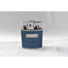 Vintage Refillable Lighter Ronson Princess Blue Enamel
