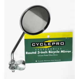 Round 3-Inch Bicycle Mirror - By CyclePro For Sale Online