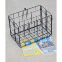 Wire Rear Folding Basket (Black) - By Wald