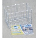 Wire Rear Folding Basket (Silver) - By Wald