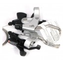 8 Speed Rapidfire Shifters with V-Brake Levers - By Shimano ST-MC18