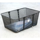 Wald Mesh Front Basket Large Black