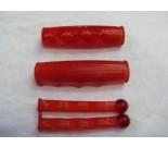 Metalplast Handle Bar Grips & Lever Covers Red