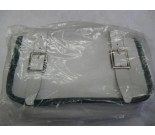Vintage bicycle handlebar bag white