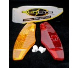 Retro Red/Amber Wheel Reflectors - By Sunlite For Sale Online