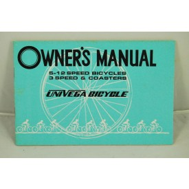Vintage 1980s Univega Bicycle Manual